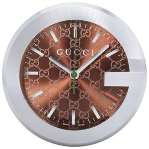 Gucci Browrn Dial Table Clock YC